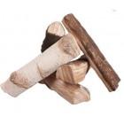Микс разных пород дерева - декоративные элементы для биокамина