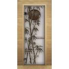 Дверь для бани сауны сатин матовая Бамбук