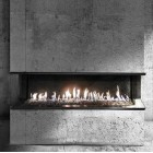 Газовый камин Gala трехстороняя Vero Design (Бельгия)