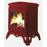 Печь-камин чугунная CHAMBORD red enamel - INVICTA (Франция)