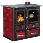 Отопительно-варочная печь  DESIREE IDRO 860 BORDEAUX c теплообменником - SIDEROS