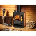 Печь-камин с плитой и теплообменником Призматик - Бавария РК140