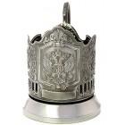Подстаканник никелированный Герб