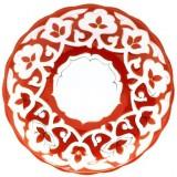 Ляган блюдо Пахта в золоте красная 29 см