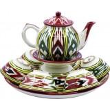 Чайный набор Риштанская керамика Атлас 10 предметов