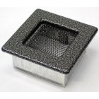 Решетка вентиляционная 11х11 черная хром пористая(Польша)