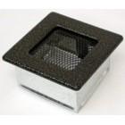 Решетка вентиляционная 11х11 черная латунь пористая(Польша)