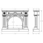 Изготовление порталов для каминов под заказ