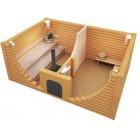 Печь банная Емельяныч -3 Сeramic 3в1 на три помещения