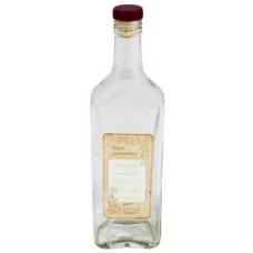 Бутылка 0,5 литров с пробкой и этикеткой