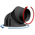 Чугунный поворотный купол 200 для топки - Romotop